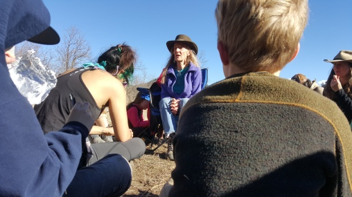Listening to our Elder Jane tell a story