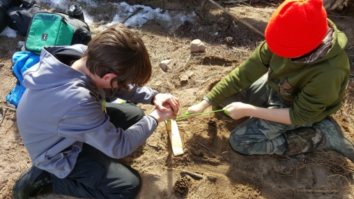 Logan and Wyatt working on Tandem Friction Fire!