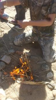 Wyatt's fire is up!