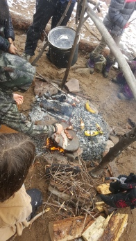 Bacon on the flatrock, banana boats in the coals, ponderosa pine needle tea in the pot