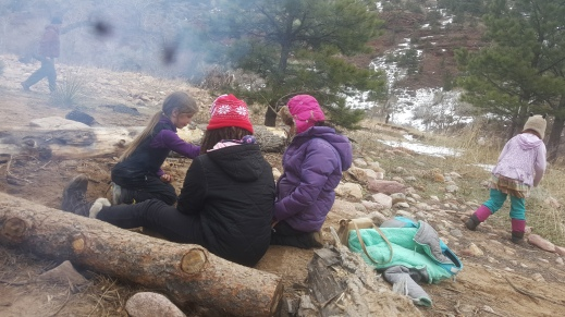 Making a fire together