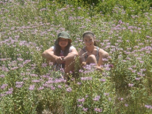 Girls in the Flowers